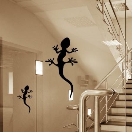 Marquage des vitres, gecko-lot de 3