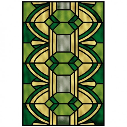 Vitrail contemporain, vert