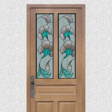 Faux vitraux, fleurs design 1