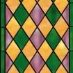 Vitrail bicolore, jacquard rose et vert