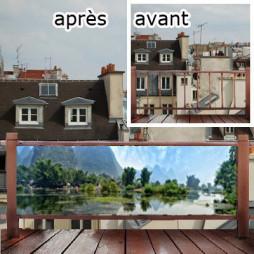 Pare vue de terrasse-Asie