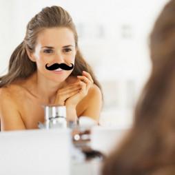 Stickers moustache pour miroir