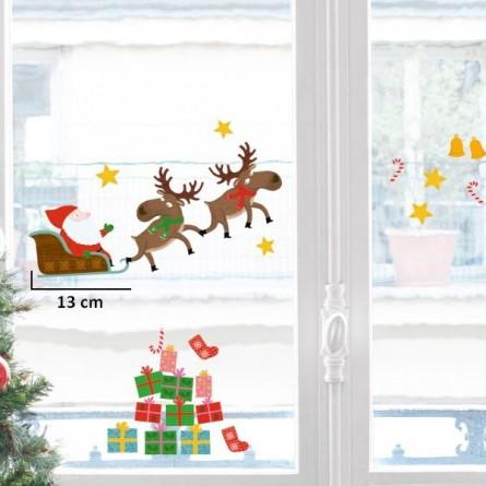 Sticker vitre, père Noël