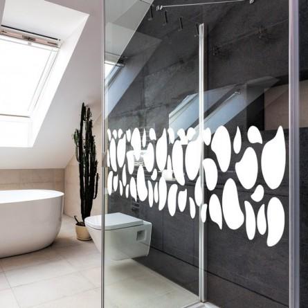 Stickers de salle de bain des galets pour la douche for Sticker miroir salle de bain