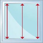 mesurez la hauteur de votre fenêtre