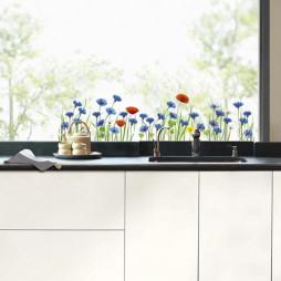Fleurs bleuets et coquelicots