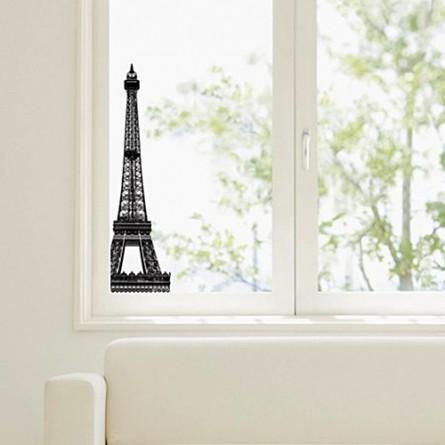 Adhésif électrostatique, la tour Eiffel