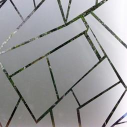 Film fenêtre verre, brisé
