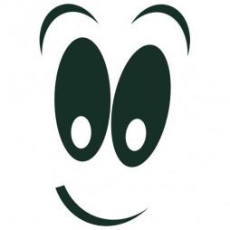 Adhésif marquage, sourir-lot de 3