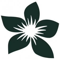 Autocollant sécurité, fleur-lot de 3