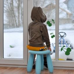 Signalétique de vitre, les cerises-lot de 3
