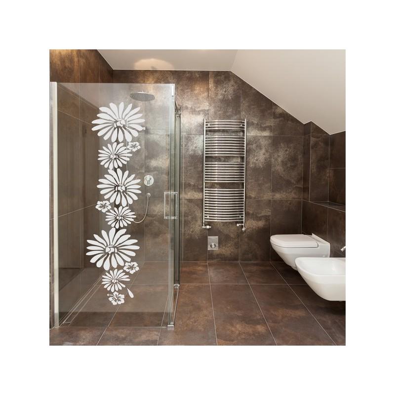 Sticker pour vitres, colonne de fleurs