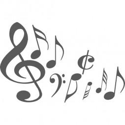 Autocollant pour vitre, note de music
