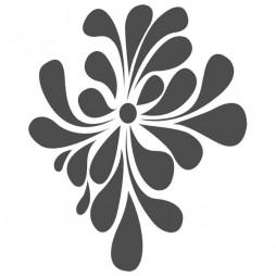 Stickers pour vitre, fleur pop