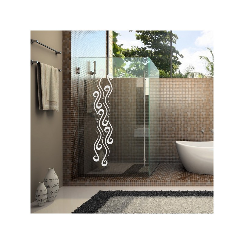 Adhésif de salle de bain, boucle design