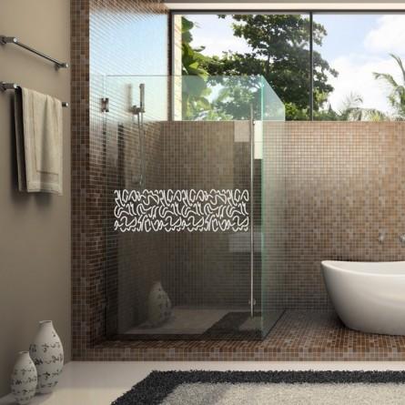 Stickers salle de bain, frise de douche