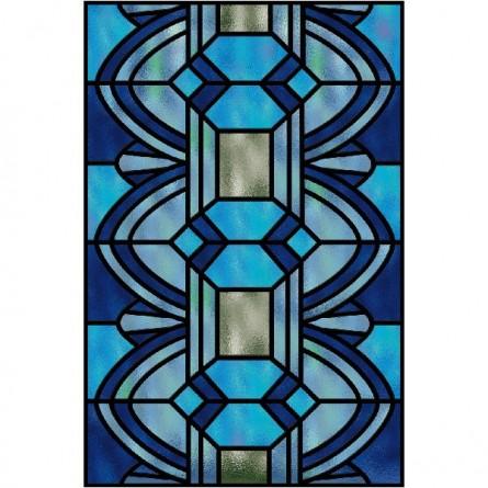 Vitrail moderne bleu
