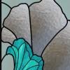Faux vitrail autocollant, fleurs design 2