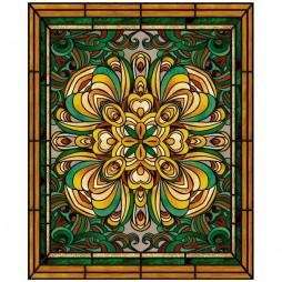 Faux vitrail, motif vert