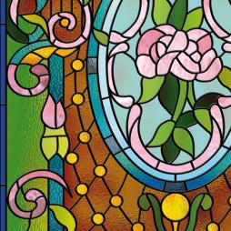 Stickers vitrail, les fleurs