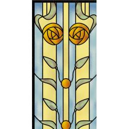 Les vitraux, petite fleur jaune