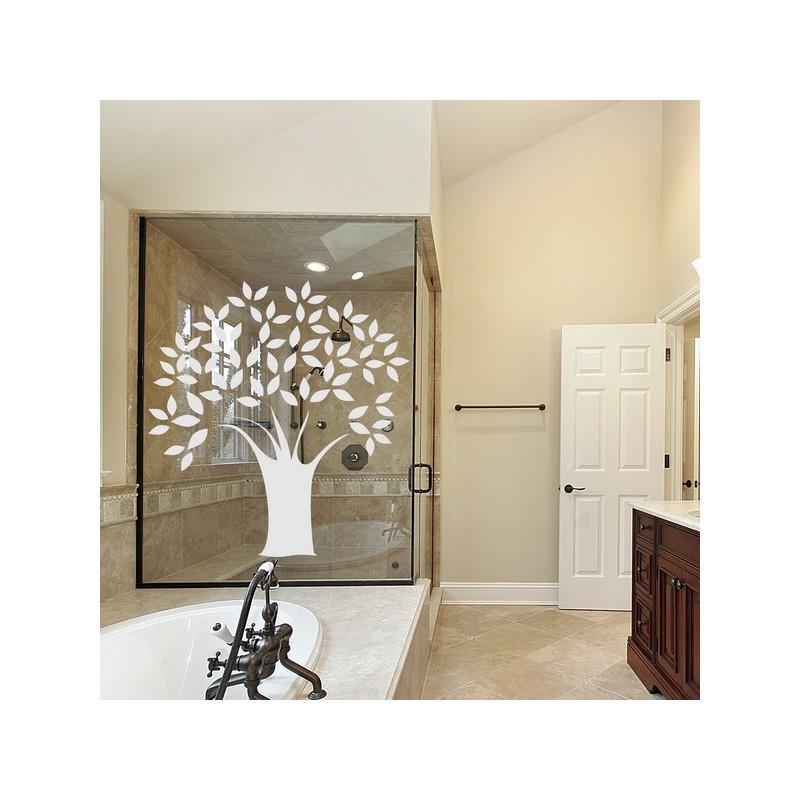 Sticker pour vitre, arbre  en feuille