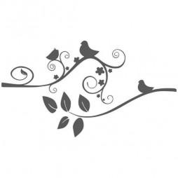 Sticker de fenetre, branche et oiseaux