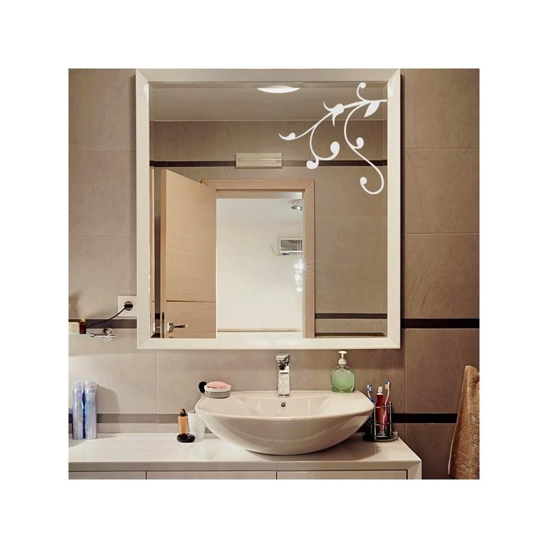 Sticker pour miroir, branche moderne