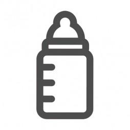Sticker de signalisation, biberon-lot de 4