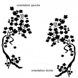 Stickers occultant, branche japonaise