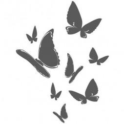 Décoration sur vitre, les papillons