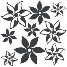 Stickers autocollant, fleur étoile