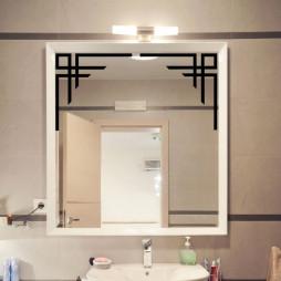 Adhésif déco miroir, angle design