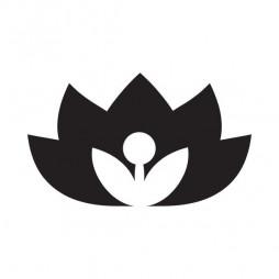 Marquage vitrage, fleur de lotus-lot de 4