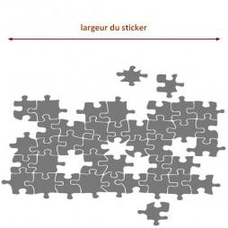 Adhésif sur-mesure, le puzzle