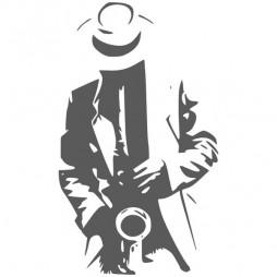 Sticker vitre, jazz man