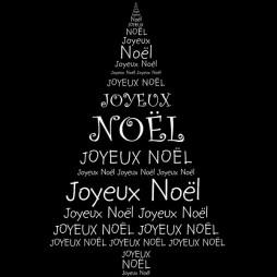 Sapin Joyeux Noël multilingue