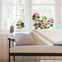 Fleurs d'hortensia rose