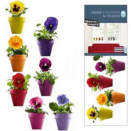 stickers fleurs électrostatiques