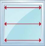 Mesurez la largeur de votre vitre